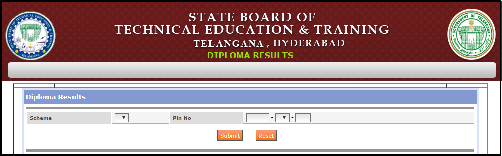 TS SBTET Diploma Results- Stage 1