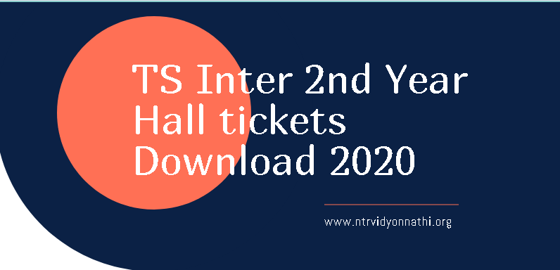 TS Inter 2nd Year Hall tickets Manabadi